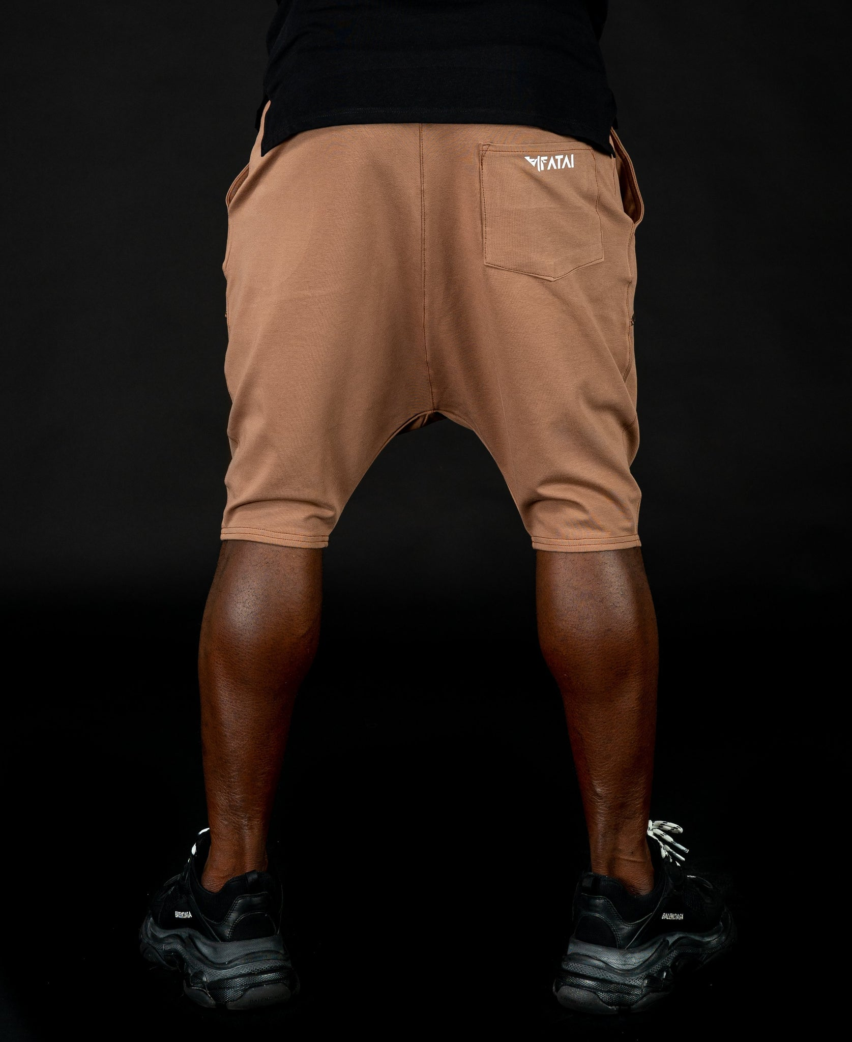 Short Brown Trousers with black sewing - Fatai Style