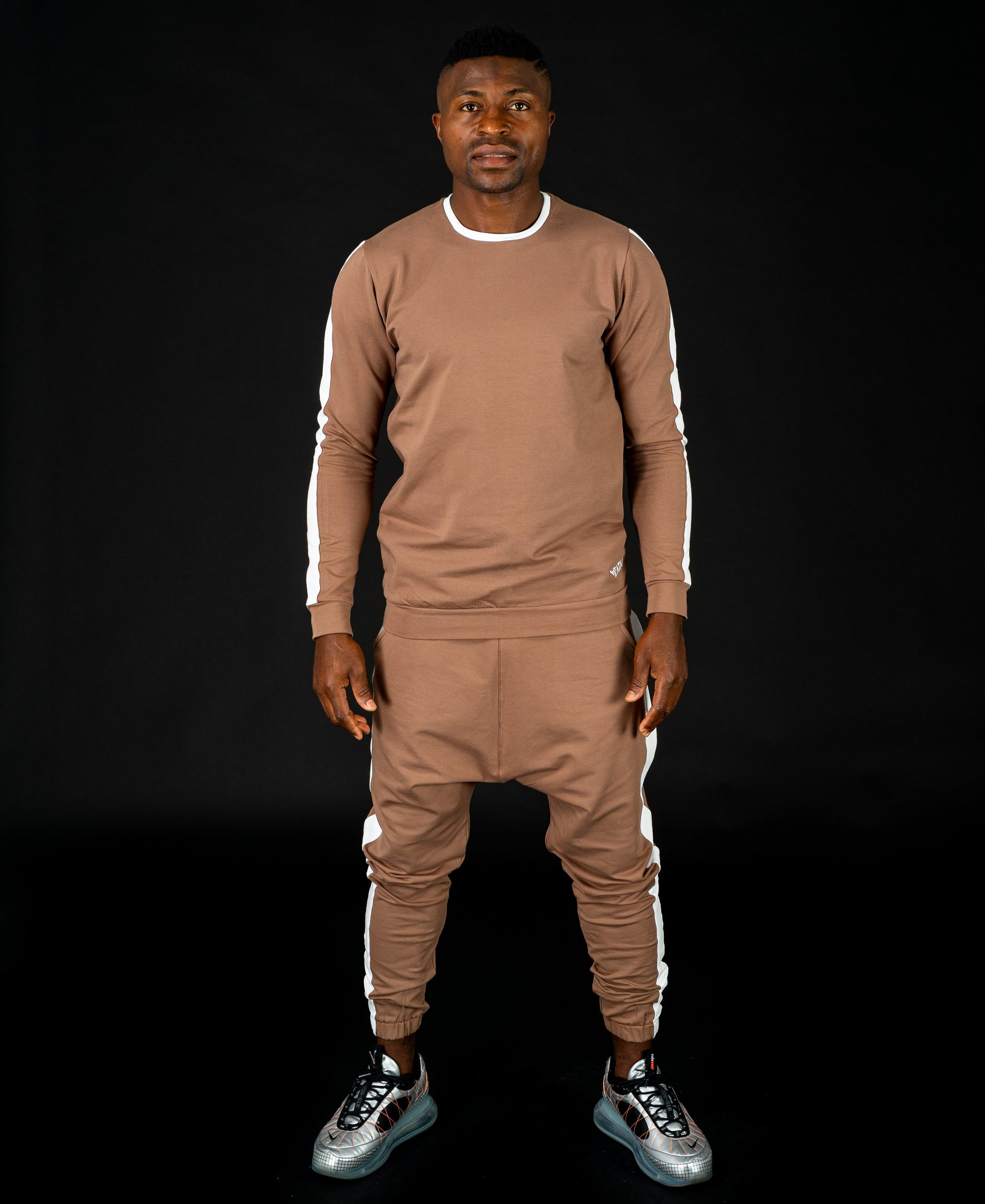Brown tracksuit (long sleeve t-shirt+long trousers) - Fatai Style