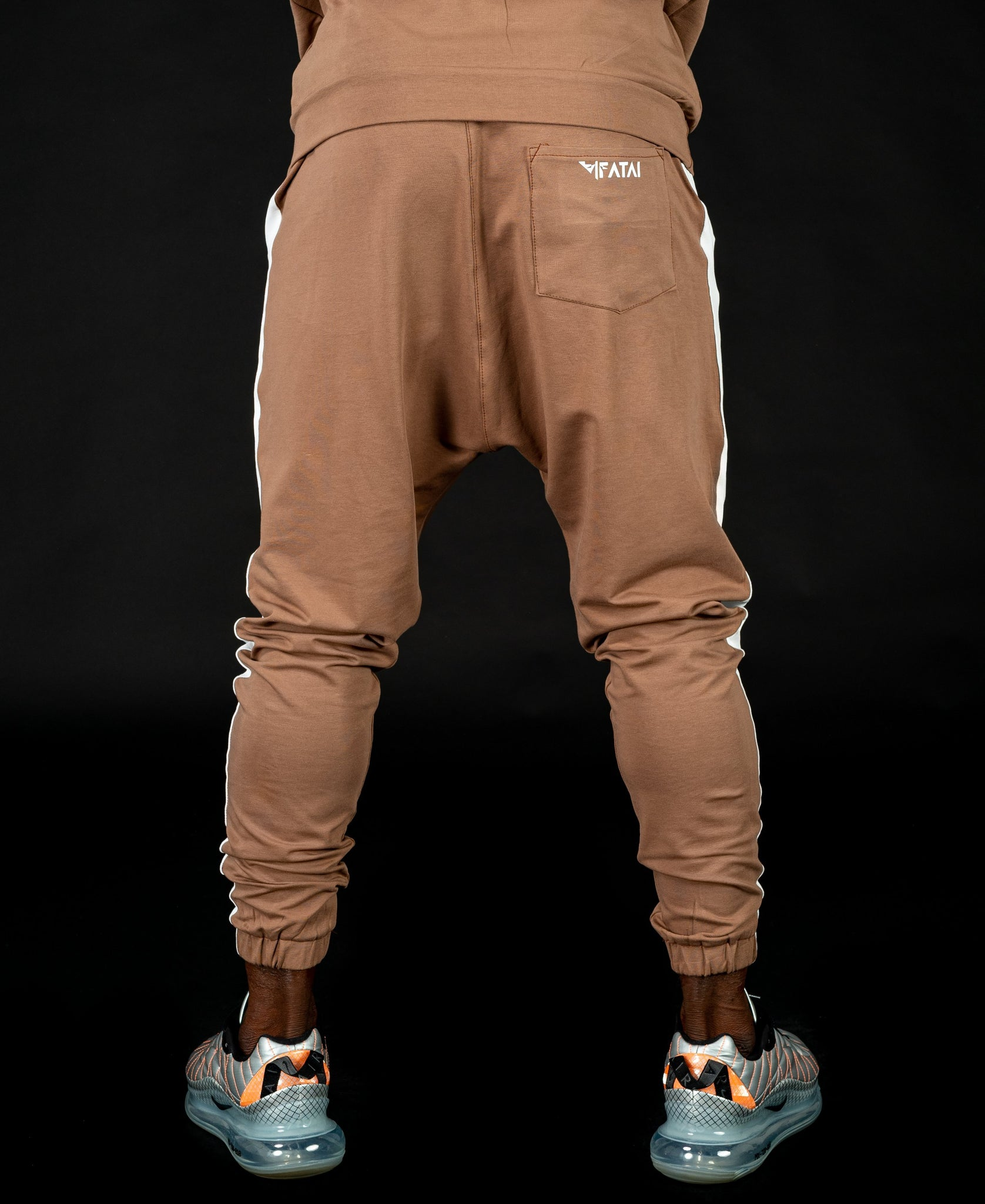 Brown trousers with white line - Fatai Style