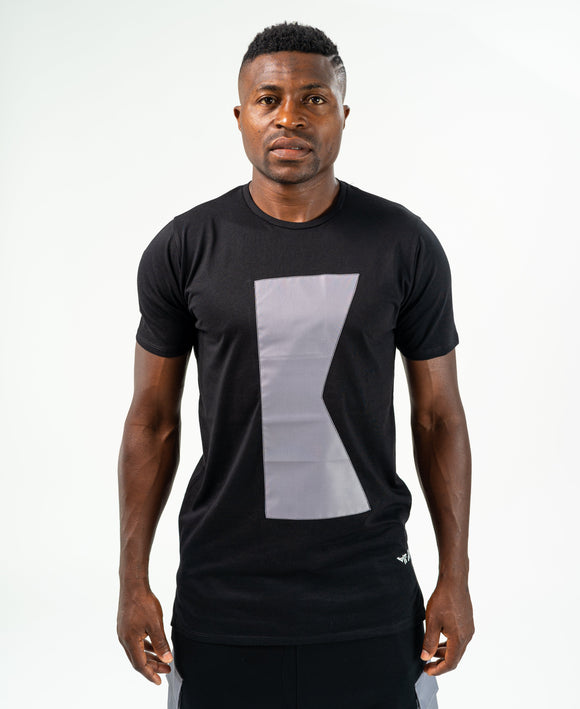 Black t-shirt with grey K - Fatai Style