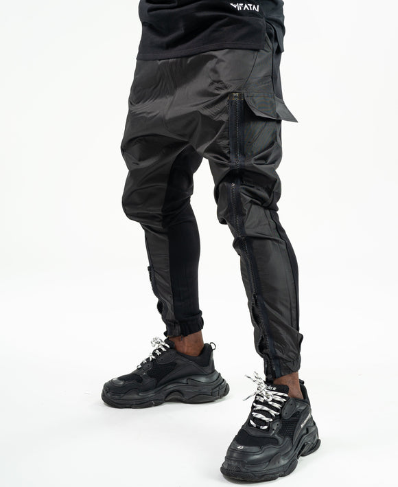Special black trousers with zip on the front - Fatai Style