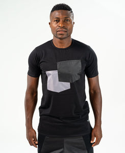 Black t-shirt with black and grey pockets - Fatai Style
