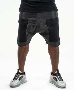 Short black trousers with black pockets - Fatai Style