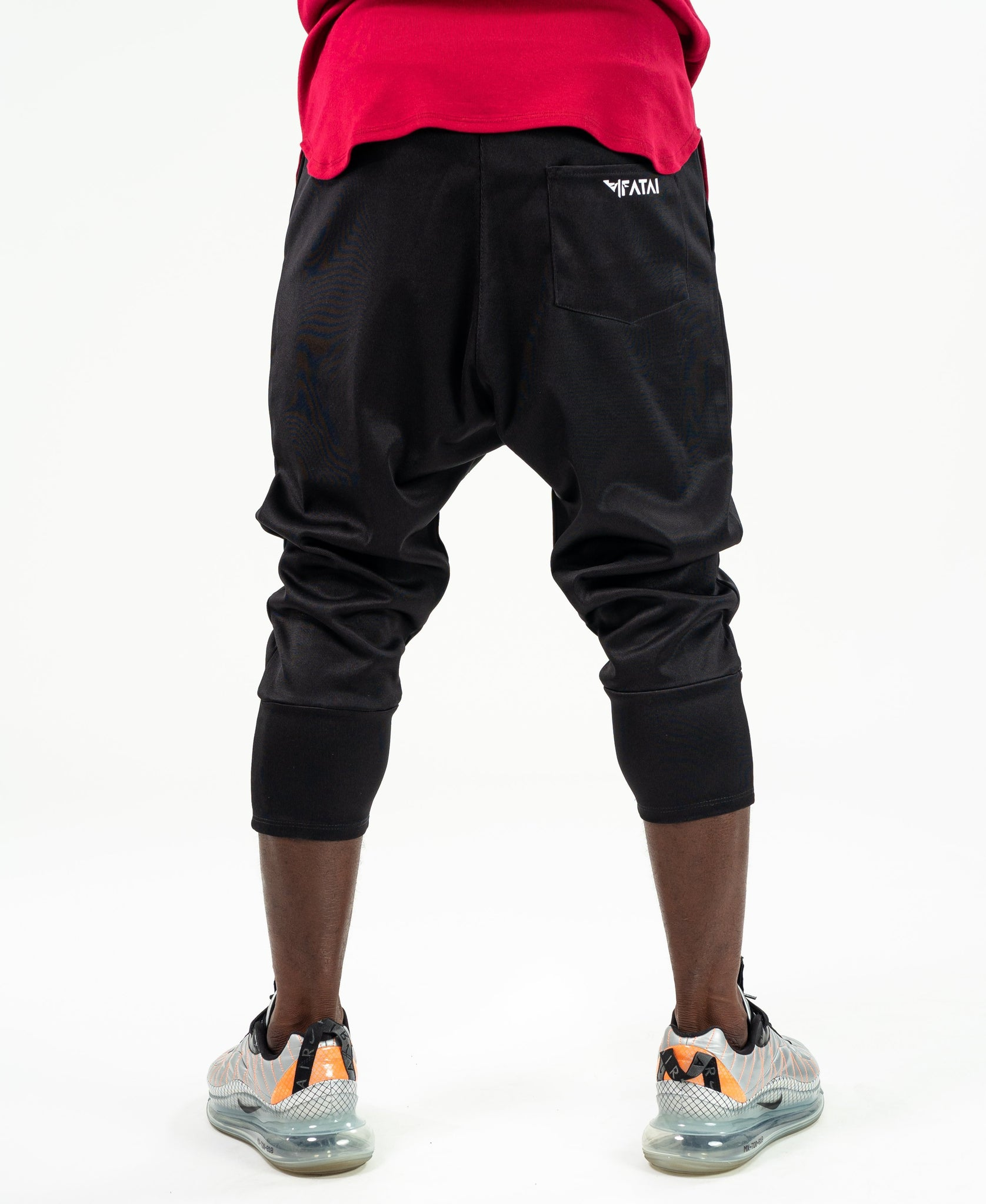 Short Black trousers with black side design - Fatai Style