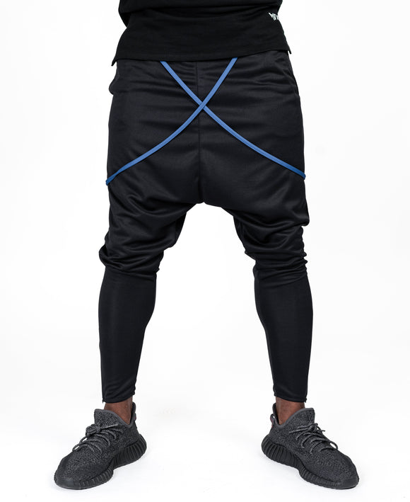 Black trousers with blue design - Fatai Style
