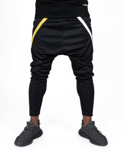 Black trousers with white and yellow design - Fatai Style