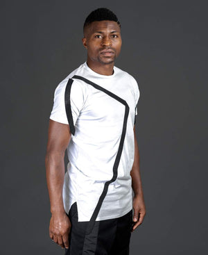 White t-shirt with black design - Fatai Style