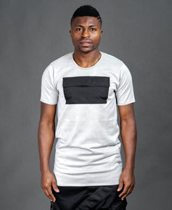 Grey t-shirt with black pocket - Fatai Style
