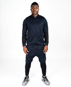 Bleumarin tracksuit with black - Fatai Style