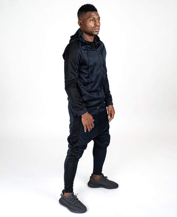 Bleumarin tracksuit with big black lines - Fatai Style