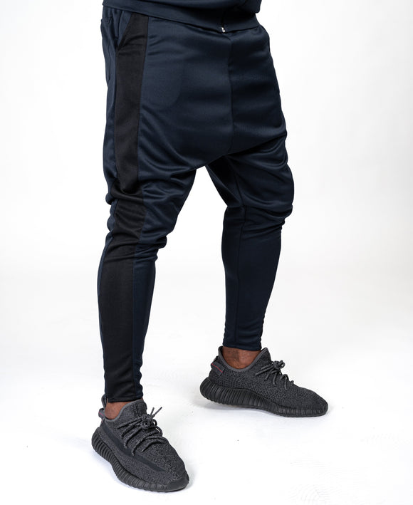 Bleumarin trousers with big black line - Fatai Style