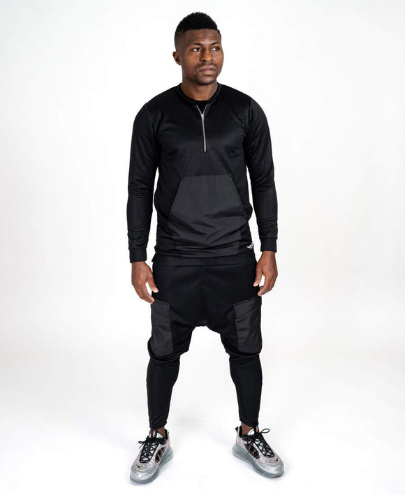Black tracksuit with black design - Fatai Style