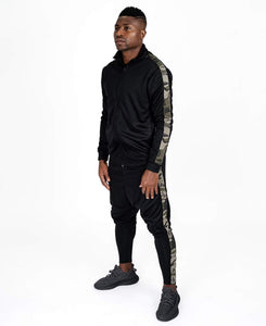 Black tracksuit with camo lines - Fatai Style