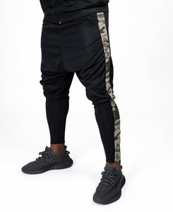 Black trousers with camo line - Fatai Style