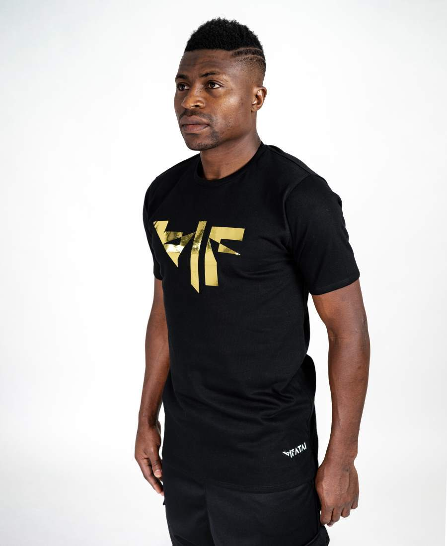Black t-shirt with F-gold - Fatai Style