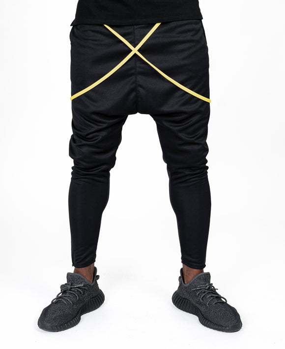 Black trousers with yellow design - Fatai Style