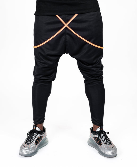 Black trousers with orange design - Fatai Style
