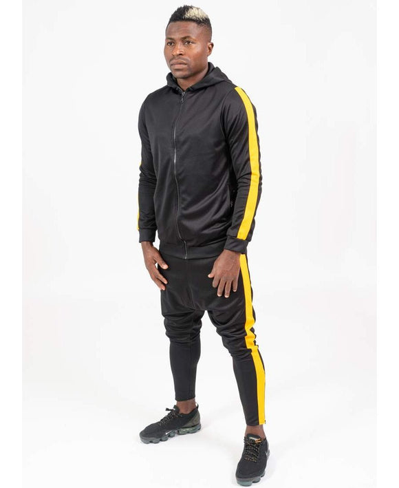 Black tracksuit with yellow lines - Fatai Style
