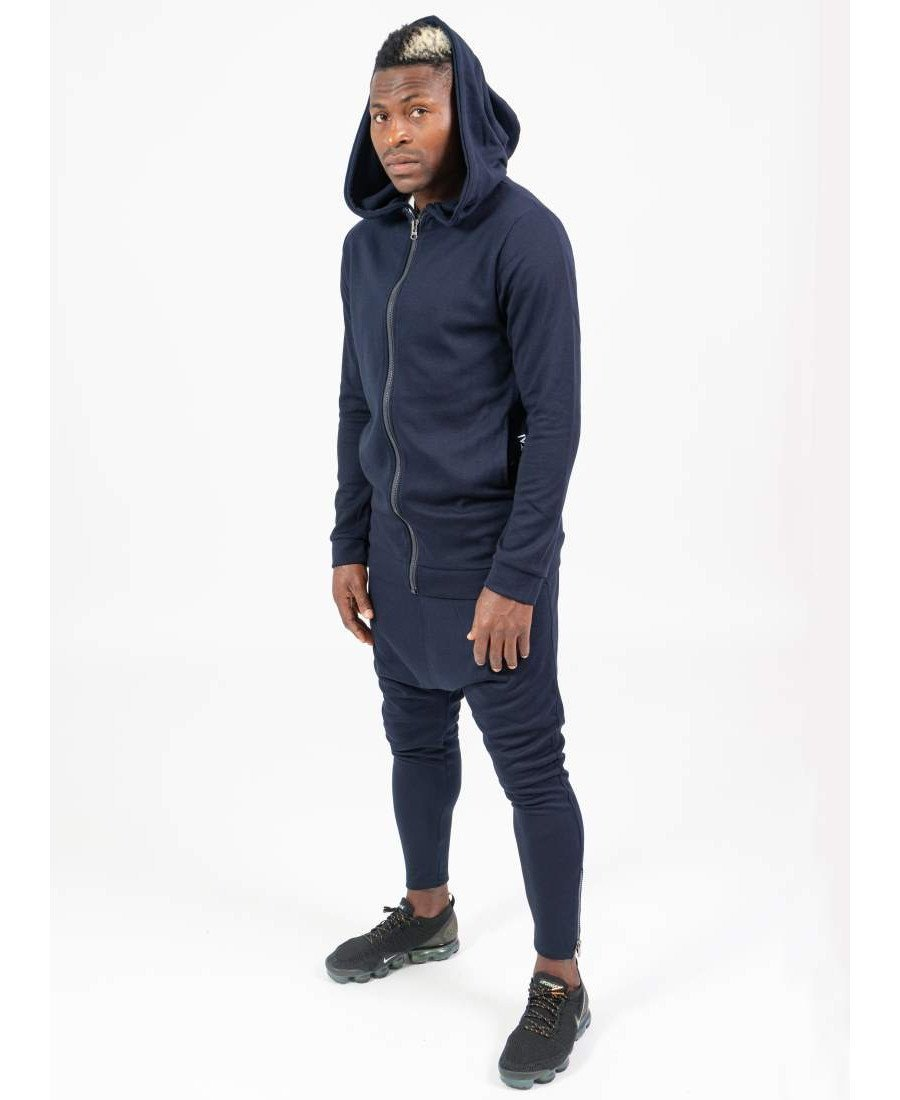 Blue tracksuit with long hood - Fatai Style