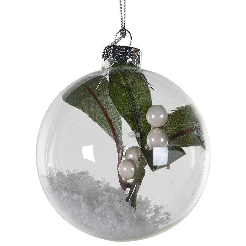 VK - Mistletoe Glass Bauble