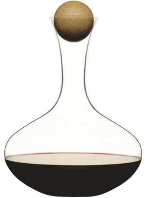 Sagaform - Wine carafe with oval oak stopper - Vama Kitchens Ltd