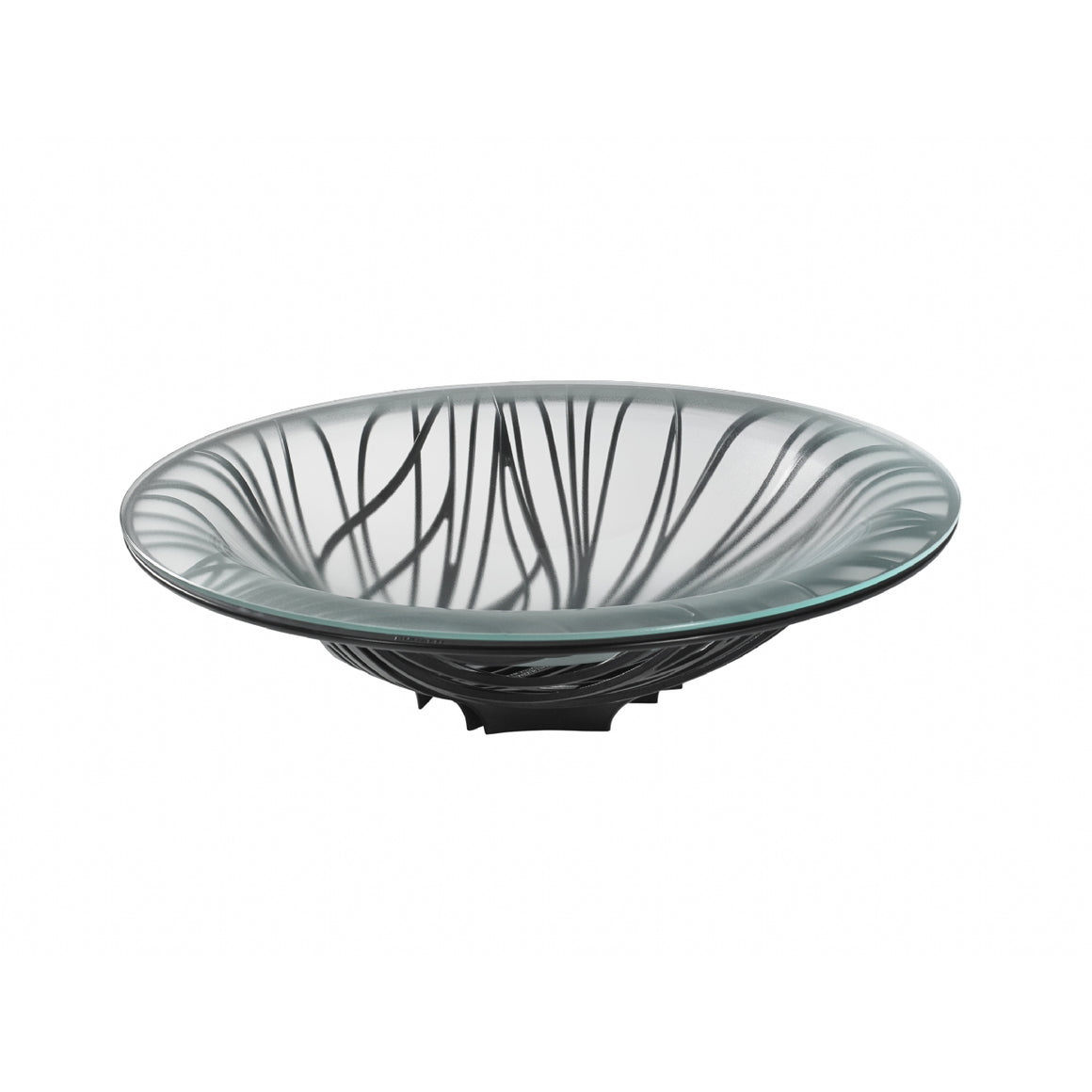 Bugatti - Flora Fruit Bowl With Glass Coupe, Black