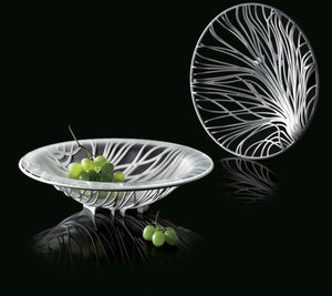 Bugatti - Flora Fruit Bowl With Glass Coupe, White