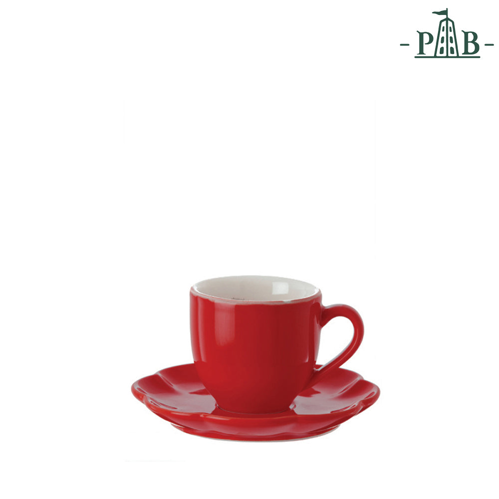 La Porcellana Bianca - Villadeifiori Coffee Cup W/S CC 90 Red - Vama Kitchens Ltd
