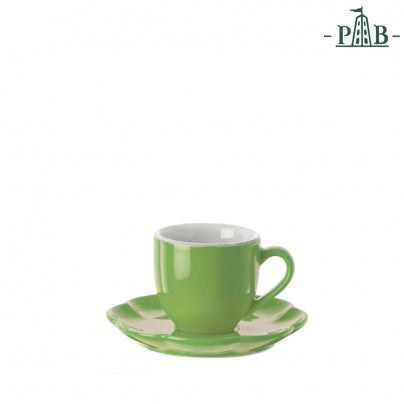 La Porcellana Bianca - Villadeifiori Coffee Cup W/S CC 90 Green - Vama Kitchens Ltd