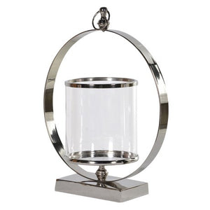 CH - Large Metal Ring Hurricane Lamp - Vama Kitchens Ltd