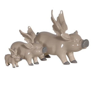 CH - Set of Three Winged Pig Ornaments - Vama Kitchens Ltd