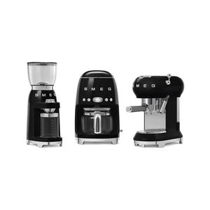 SMEG - 50's Drip Filter Coffee Machine, Black