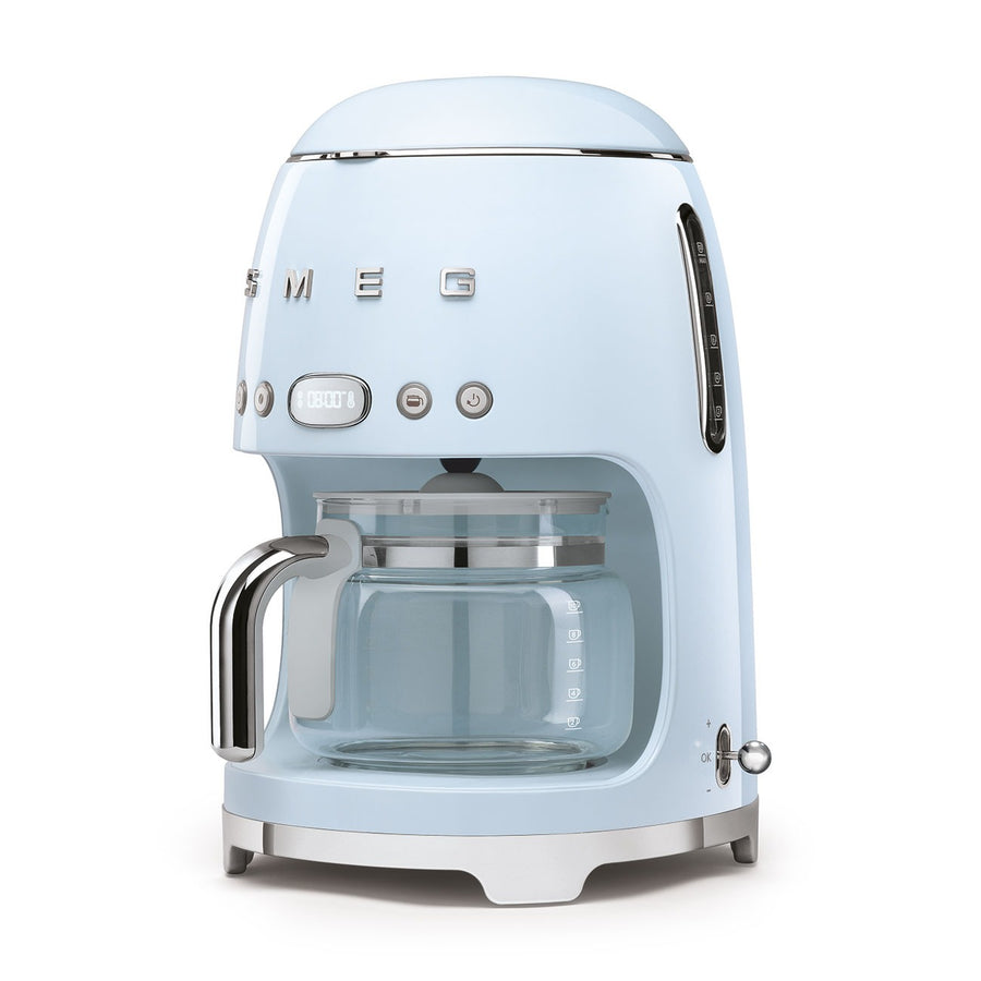 SMEG - 50's Drip Filter Coffee Machine, Pastel Blue