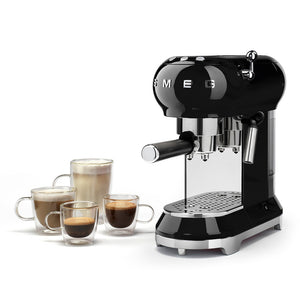 SMEG - 50's Espresso Coffee Machine, Black