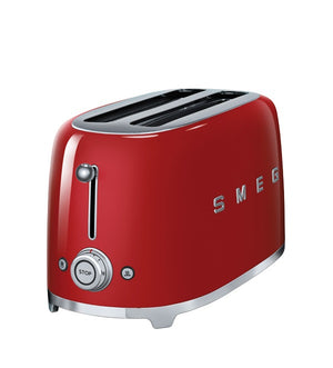 Smeg - 50's Retro 4 Slice Toaster, Red