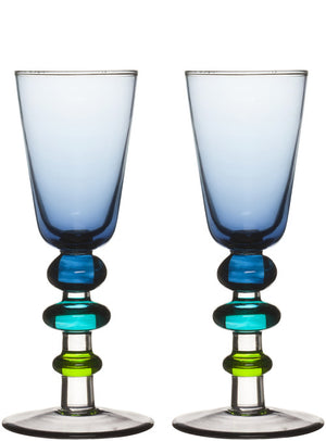 Sagaform - Spectra shotglass 2-pack, Blue - Vama Kitchens Ltd