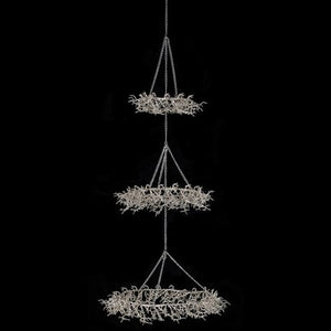 VK - Set of Three Hung Champagne Twig Leaves
