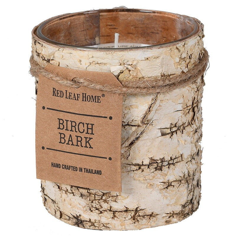 VK - Small Birch Bark Candle in Glass