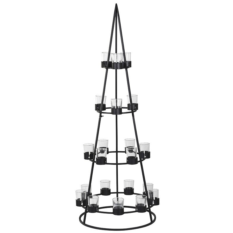 VK - Small  Cone Tree Candleholder