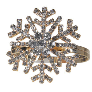 CH - S/6 Snowflake Napkin Rings - Vama Kitchens Ltd
