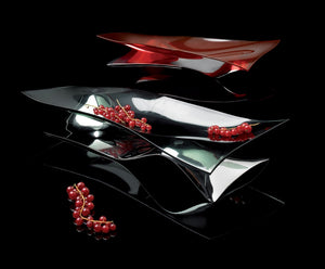 Bugatti - Sofio Wavy Fruit Bowl, Chrome