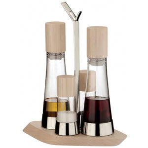 Bugatti - Trattoria 4pc Oil Cruet Set, White washed