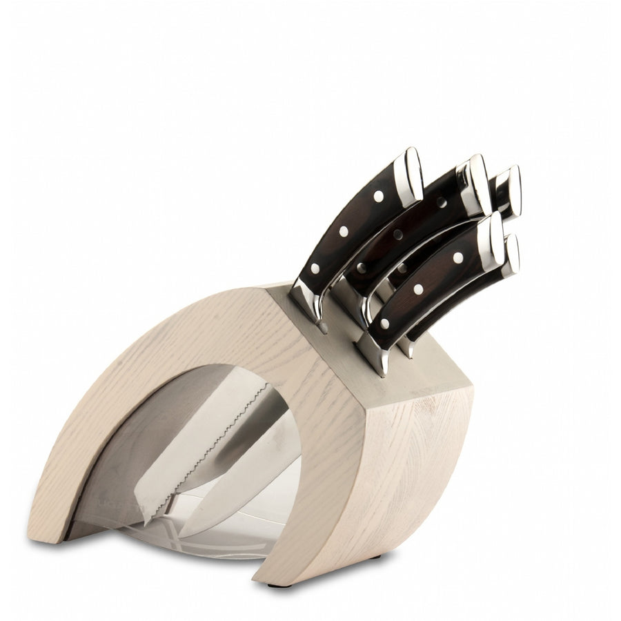 Bugatti - Virgola 5pc Knife Block, Pakka Knifes