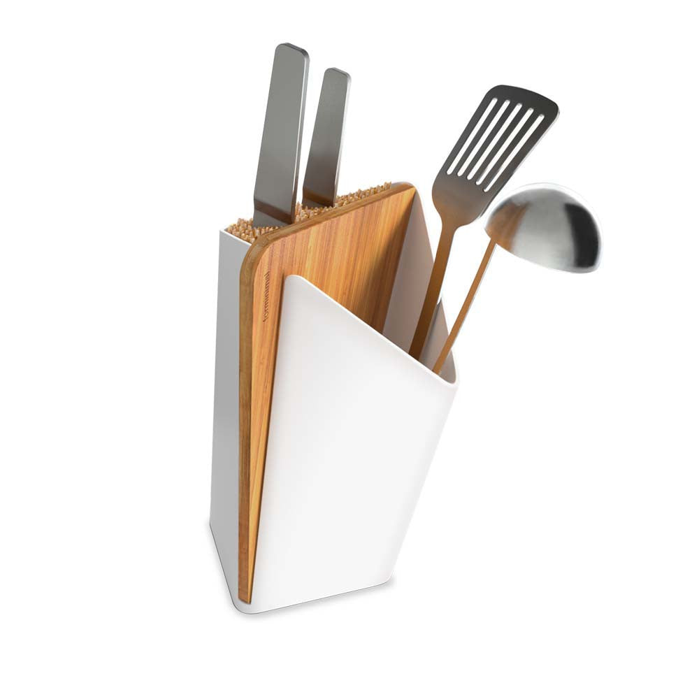 Forminimal - Utensil / Knife Holder + Board, White - Vama Kitchens Ltd