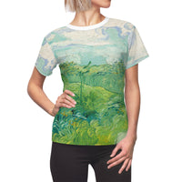 Vincent van Gogh Painting Dutch T-shirt Green Blue White Pastel Pretty Painting Fine Art