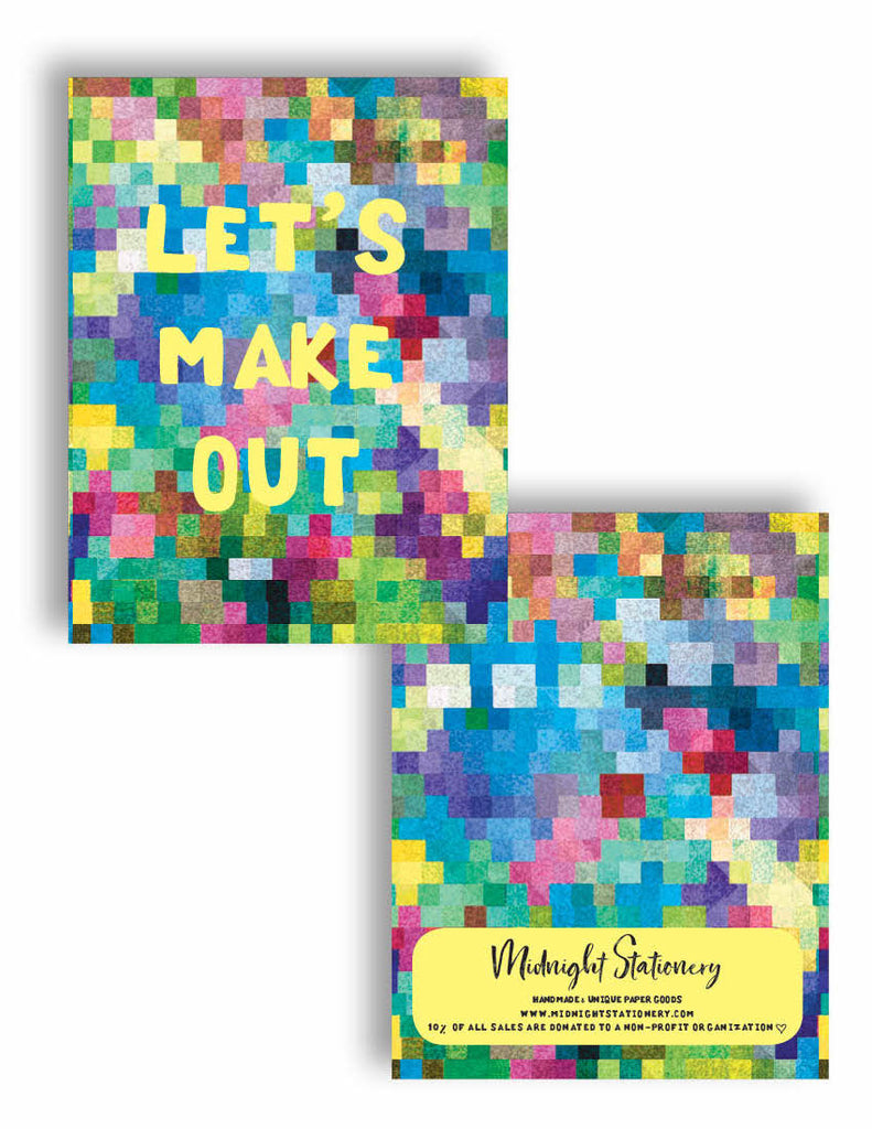 Lets make out greeting card midnight stationery lets make out greeting card m4hsunfo