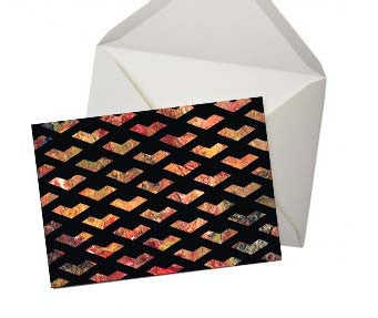 Golden Chevron Greeting Card
