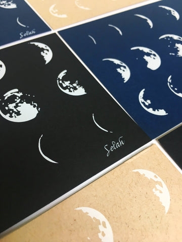 Eclipse White Ink Postcards