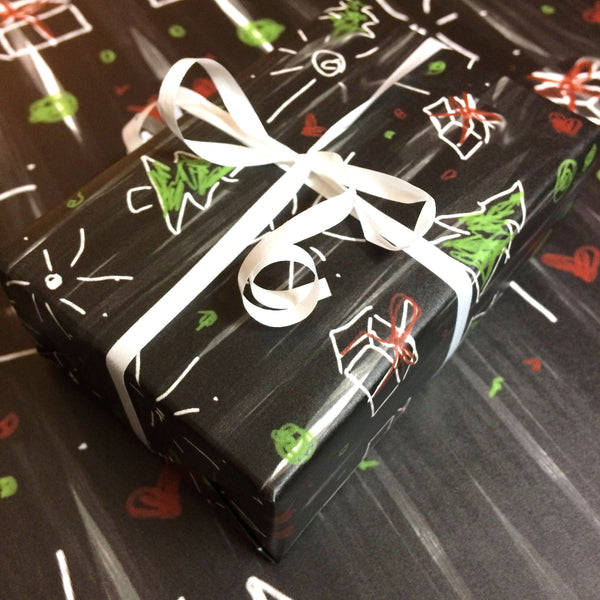 Holiday Chalkboard Gift Wrap