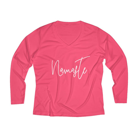 Namaste - Sports Long Sleeve Performance V-neck Tee